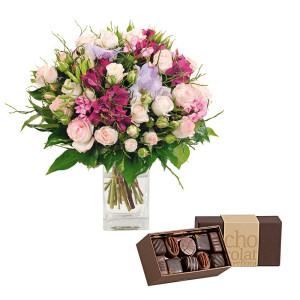 bouquet-fleurs-chocolats